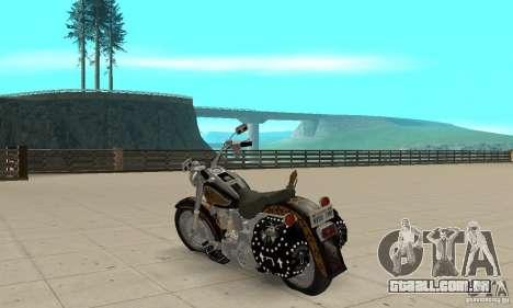 Harley Davidson FLSTF (Fat Boy) v2.0 Skin 5 para GTA San Andreas traseira esquerda vista