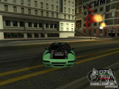 Teal Infernus para GTA San Andreas vista direita