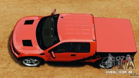 Ford F-150 SVT Raptor para GTA 4 vista direita