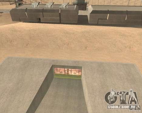 Portão pneumático na área 69 para GTA San Andreas segunda tela