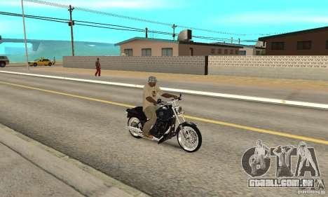 Harley Davidson FXSTBi Night Train para GTA San Andreas vista direita