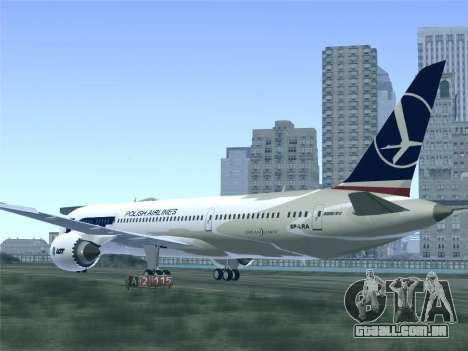 Boeing 787-9 LOT Polish Airlines para as rodas de GTA San Andreas