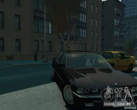 BMW 750i E38 1998 para GTA 4 vista direita