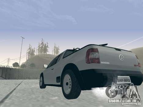 Volkswagen Saveiro 1.6 2009 para GTA San Andreas vista traseira