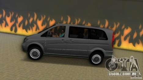 Mercedes-Benz Vito 2007 para GTA Vice City vista direita