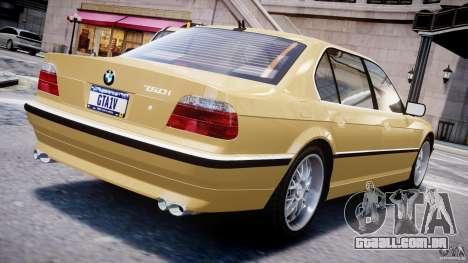 BMW 750i v1.5 para GTA 4 traseira esquerda vista