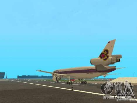 McDonell Douglas  DC 10 Thai Airways para GTA San Andreas traseira esquerda vista