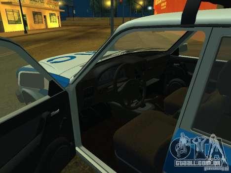 GAZ 3110 polícia para GTA San Andreas vista traseira