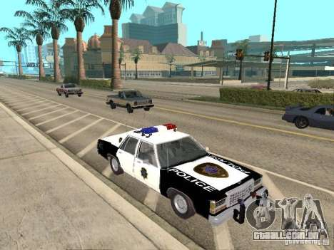 Ford LTD Crown Victoria Interceptor LAPD 1985 para GTA San Andreas vista traseira