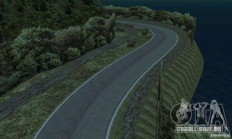 A rota do rali para GTA San Andreas sexta tela