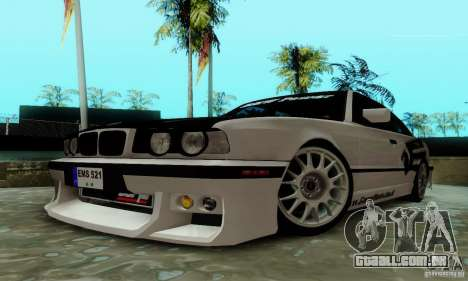 BMW E34 540i Tunable para GTA San Andreas vista interior