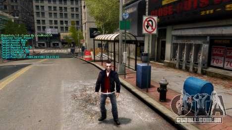 Informações sobre o jogador para GTA 4 terceira tela