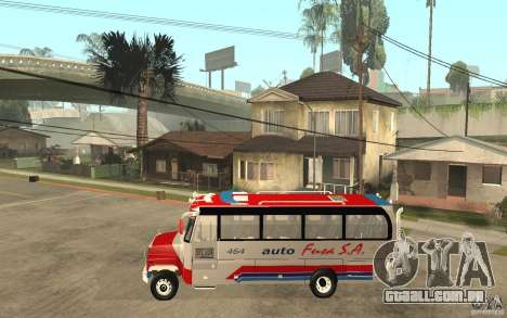 Kodiak B70 - Autofusa Colombia para GTA San Andreas esquerda vista