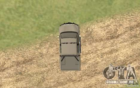 Toyota Tundra 4x4 para GTA San Andreas vista traseira