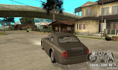 Rolls Royce Coupe 2009 para GTA San Andreas traseira esquerda vista