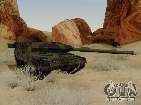 Leopard 2A6 para GTA San Andreas vista interior