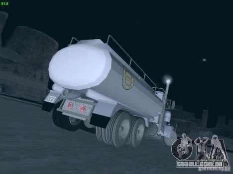 Kenworth Petrol Tanker para GTA San Andreas traseira esquerda vista