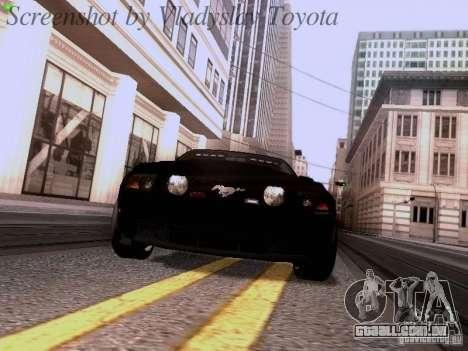 Ford Mustang GT 2011 Unmarked para GTA San Andreas vista traseira