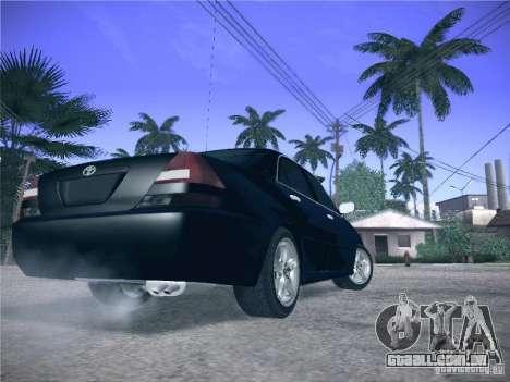 Toyota Mark II Grande para GTA San Andreas vista traseira