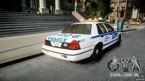 Ford Crown Victoria CVPI-V2.5V para GTA 4 traseira esquerda vista
