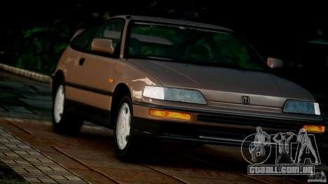 Honda CR-X SiR 1991 para GTA 4 vista de volta
