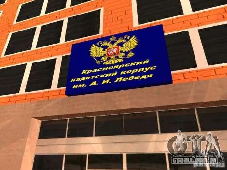Corpo de cadetes de Krasnoyarsk para GTA San Andreas segunda tela