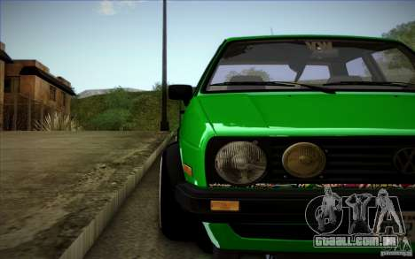 VW Golf MK2 Stanced para GTA San Andreas vista superior