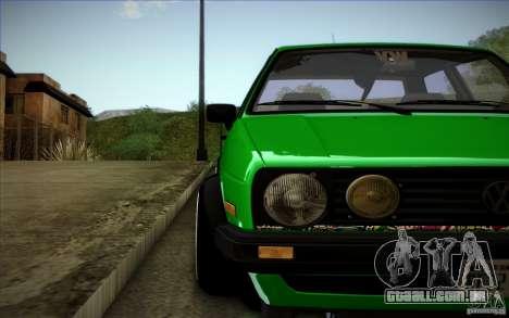 VW Golf MK2 Stanced para GTA San Andreas vista superior