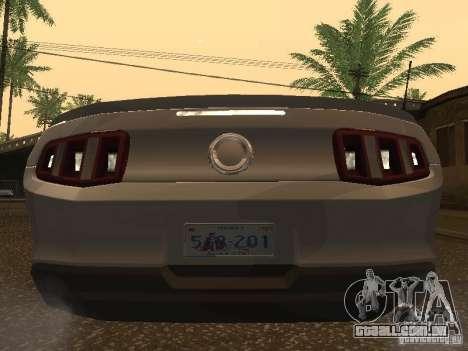 Ford Mustang 2011 GT para GTA San Andreas vista direita