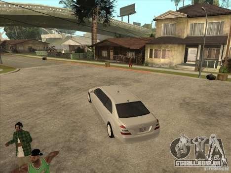 Mercedes-Benz Pullman (w221) SE para GTA San Andreas vista direita