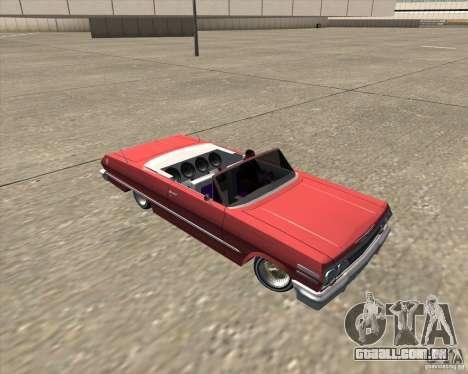 Chevrolet Impala 1963 lowrider para GTA San Andreas vista superior