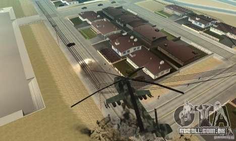 Black Ops Hind para GTA San Andreas vista traseira
