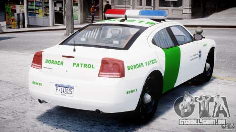 Dodge Charger US Border Patrol CHGR-V2.1M [ELS] para GTA 4 vista direita