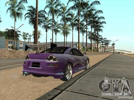Mitsubishi Eclipse Spyder 2FAST2FURIOUS para GTA San Andreas traseira esquerda vista