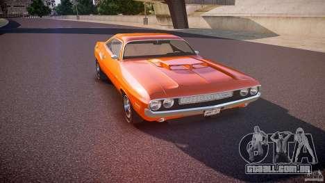 Dodge Challenger v1.0 1970 para GTA 4 vista interior