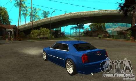 Chrysler 300C SRT 8 2008 para GTA San Andreas traseira esquerda vista