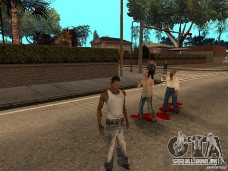 The Walking Dead para GTA San Andreas segunda tela