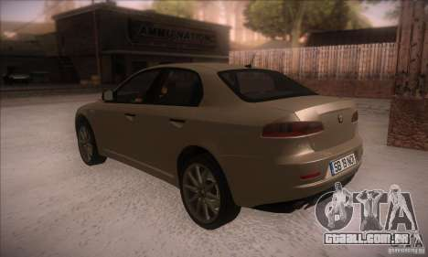 Alfa Romeo 159 para GTA San Andreas traseira esquerda vista