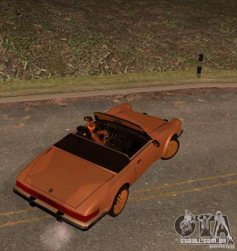 New Comet para GTA San Andreas esquerda vista
