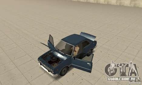 Toyota Corolla 1977 para GTA San Andreas vista traseira