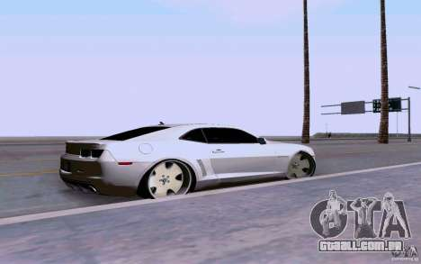 Chevrolet Camaro Super Sport 2012 para GTA San Andreas esquerda vista