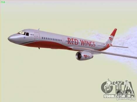 Tupolev Tu-204 Red Wings Airlines para GTA San Andreas vista superior