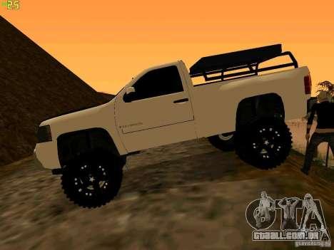 Chevrolet Silverado Final para GTA San Andreas esquerda vista