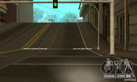 Os picos na estrada para GTA San Andreas