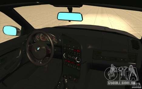 BMW E36 M3 - Stock para GTA San Andreas vista superior