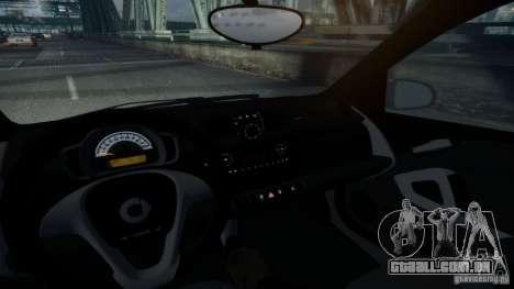 Smart ForTwo 2012 v1.0 para GTA 4 traseira esquerda vista