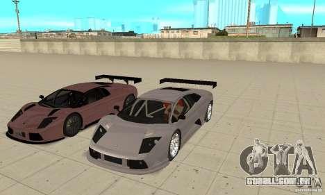 Lamborghini Murcielago R GT para GTA San Andreas interior
