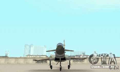 EF-2000 Typhoon V1.3 para GTA San Andreas vista inferior