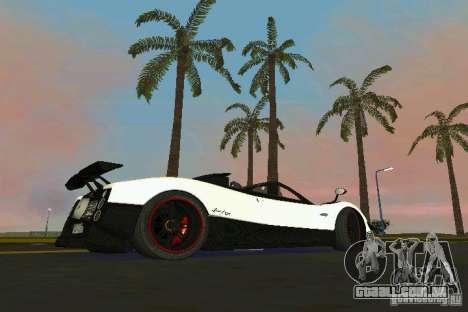 Pagani Zonda Cinque Roadster 2010 para GTA Vice City deixou vista