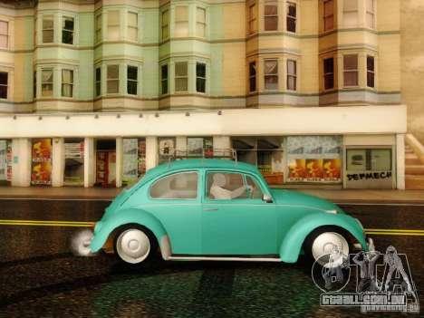 Volkswagen Beetle 1300 para GTA San Andreas traseira esquerda vista